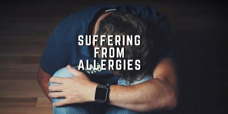 suffering from allergies