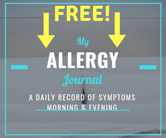 allergy journal record symptoms