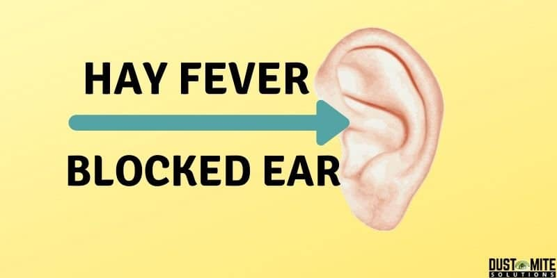 hay fever and blocked ears
